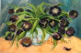 Lila Tulpen - Acryl auf Leinwand 90 x 70 cm Original Ingrid Wolff-Bleekmann