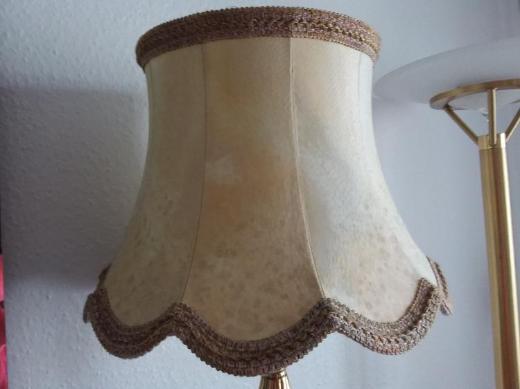 Kleine Stehlampe mit massivem Messingfuss - Nottuln