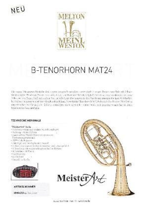 "Melton / Meinl Weston ""MeisterArt"" Tenorhorn MAT24 Goldmessing, 4 Ventile, Neuheit - Hagenburg"