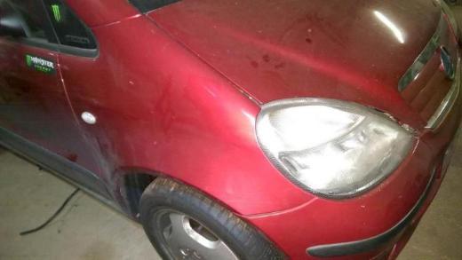 Mercedes A Klasse rotmetallic Sitz hinten