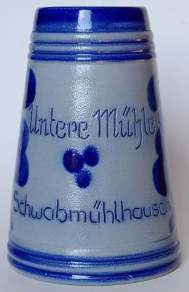 """Krug des Restaurants/Hotels """"Untere Mühle"""" in Schwabmühlhausen"""