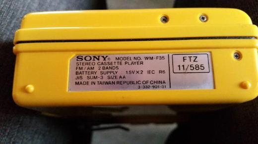 Sony Walkmann SPORTS WM-F35 mit Radio, Kultgerät, Vintage, aus den 80ziger Jahren, Top Zustand - Münster