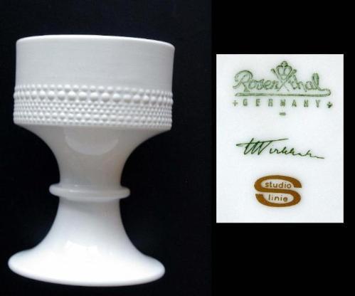 Rosenthal-Vase f. Blumengesteck, Studio Line, Design Tapio Wirkka - Münster