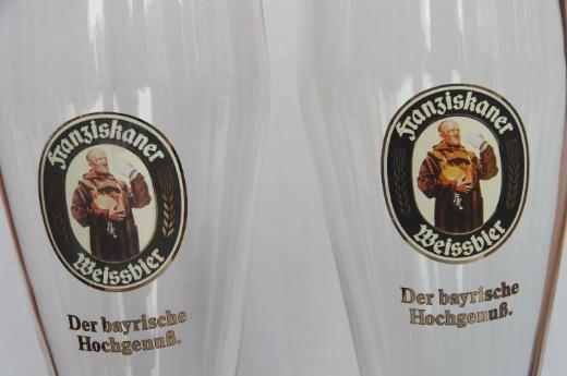2 Gläser Franziskaner Weißbier 0,5 l - Münster