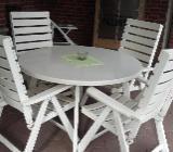 Herlag-Gartenstühle - 4 Stühle + 1 Tisch - Emsdetten