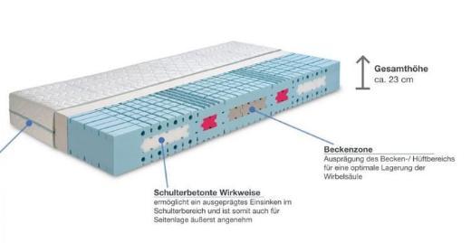 Werkmeister M S55 Kaltschaum Matratze 140 x 200 NP.:1400 € Tempur - Senden (Westfalen)