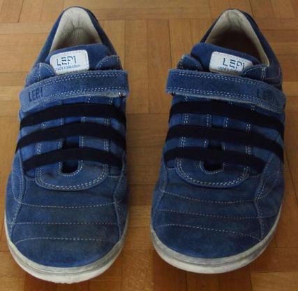 Lepi Schuhe Gr. 39, schickes Blau.