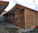 Außenboxen für Pferde, Pferdeställe, Pferdeboxen, Weidehütte, Unterstand, Offenstall - Kolbingen