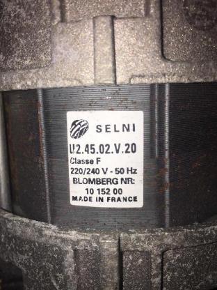 Blomberg Beko Motor Waschmaschinenmotor U2.45.02.V.20   10 152 00