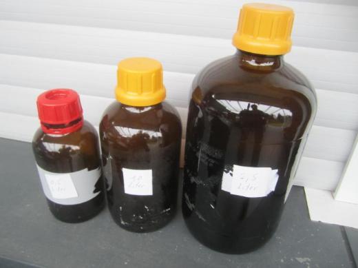 Flaschen> braun > verschiedene Größen