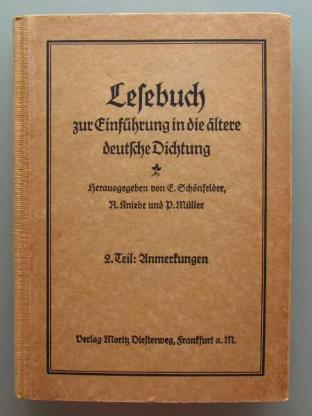Lesebuch zur Einführung in die ältere deutsche Dichtung. (1925)