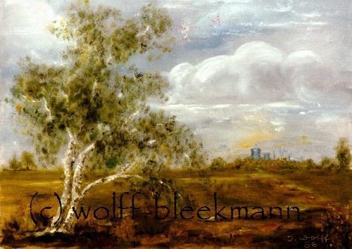Birke - 40 x 30 cm Öl auf Leinwand Original Ingrid Wolff-Bleekmann - Münster