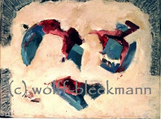 Es ist was es ist II - Acryl auf Leinwand 50 x 40 cm Original Ingrid Wolff-Bleekmann