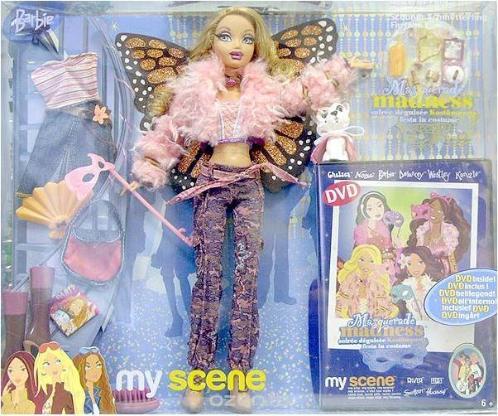 Barbie Myscene Puppe mit viel Zubehör, DVD Neu&OVP + Handtasche