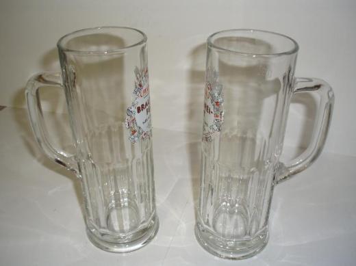 2 St. neue, original Rolinck Glas-Bierkrüge 0,3 L. von der Privatbrauerei Rolinck aus Steinfurt - Münster