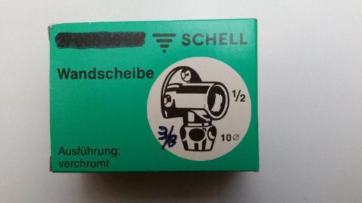 """Schell Wandscheibe ½"""" Innengewinde x 3/8"""" Außengewinde mit Quetschverschraubung 10 mm für Kupferrohr, verchromt, #2 - Münster"""