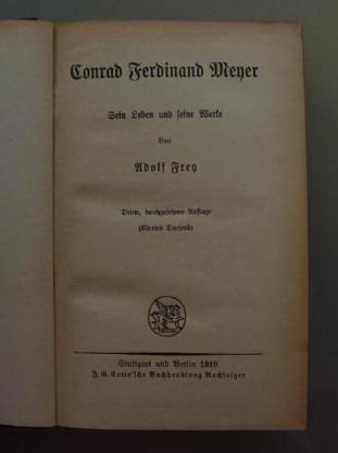 A. Frey: Conrad Ferdinand Meyer (1919)