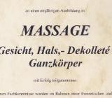 Mobile Massage - Gesichts- und Dekolleté Massage - Münster