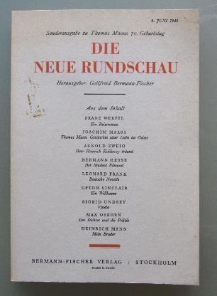 Die Neue Rundschau. Sonderausg. zu Thomas Manns 70. Geburtstag (Reprint)