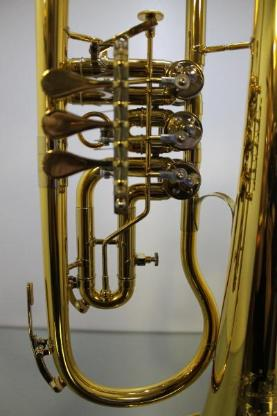 B & S Konzertflügelhorn. Goldlack - Einzelanfertigung. mit Tonausgleichstrigger, Neuware / OVP - Hagenburg