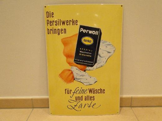 Henkel, Perwoll, Emaille-Schild, limitiert, mit Zertifikat