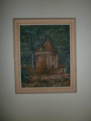 """Bild - (Öl-) Gemälde mit Rahmen - """"le moulin d´alphanso"""""""