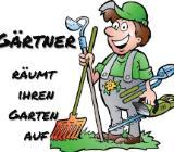 Gärtner räumt ihren Garten auf - Münster