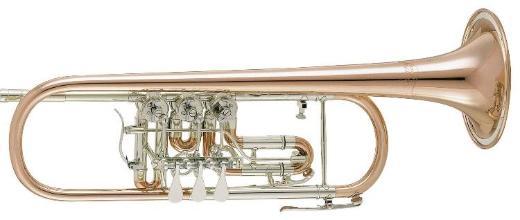 V.F. Cerveny CTR 701 R Konzert - Trompete aus Goldmessing mit Neusilberkranz, Neuware