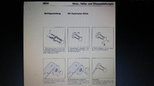 Hewi WC Papierhalter Rollenhalter 455 ds, weiß, neu bis neuwertig - Münster