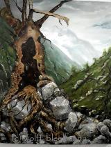Norwegen-Impression - Öl auf Leinwand  60 x 70 cm Original Ingrid Wolff-Bleekmann