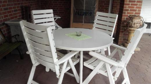 Herlag-Gartenstühle - 4 Stühle + 1 Tisch
