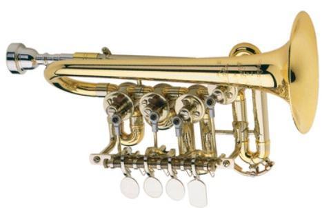 Meister J. Scherzer Hoch C - Piccolotrompete, Mod. 8110-L, Neuware / OVP - Hagenburg