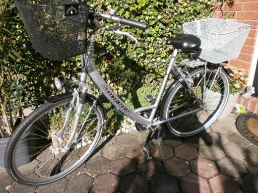 Gudereit Comfort – 28-er Damen-City-Touren-Rad – 7-Gang – 2 Körbe