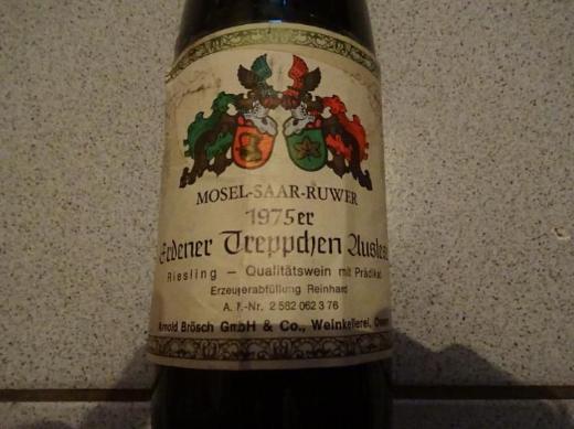 44 Jahre alter Wein: Erdener Treppchen Auslese, Mosel-Saar-Ruwer, 1975 - Münster