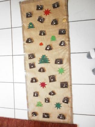 Befüllbarer Adventskalender - Unikat - 1,40 x 0,54 m