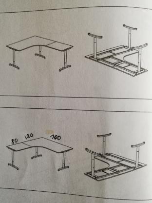 Schreibtisch für Selbstabholer