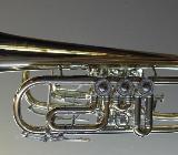 J. Scherzer Profi - Konzert -Trompete in C, Mod. 8217W-L mit Trigger - Hagenburg