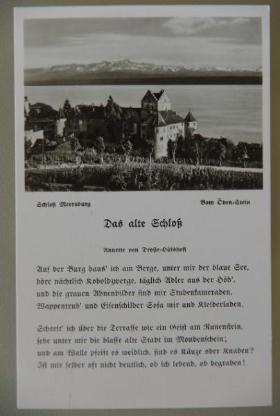 Foto-Postkarte Schloss Meersburg, ca. 1950er-Jahre