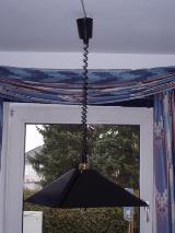 Schwarze Designer Zugpendellampe aus Metall für´s Esszimmer, TOP Zustand