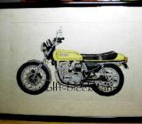 Honda CB 750 Four - Original Zeichnung Mischtechnik auf Büttenpapier 25 x 19 cm Ingrid Wolff-Bleekmann - Münster