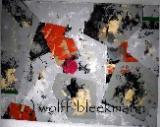 Schichtweise -  Acryl auf Leinwand 90 x 70 cm Original Ingrid Wolff-Bleekmann