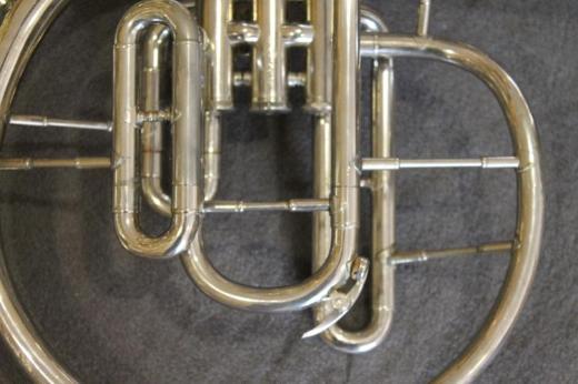 Kühnl & Hoyer F und Eb / Es - Mellophon mit Koffer - Hagenburg