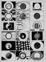 Mittelpunkt 1 - Grafik 21,5 x 30,5 cm Original Ingrid Wolff-Bleekmann