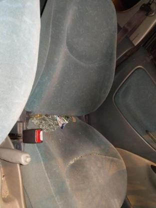 Toyota Yaris Schlachtfest schwarz 1.0 L schwarz Schlachfest Sitz