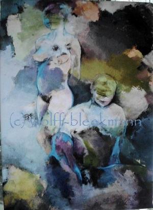 Grenzenlos - Kunstdruck 1/5 Leinwand/Keilrahmen 25 x 35 cm Ingrid Wolff-Bleekmann