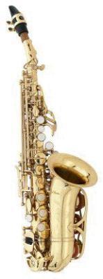 Orig. Antigua Deluxe gebogenes Sopransaxophon in Bb inkl. Koffer, Neuware