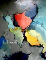 O.T. - Acryl auf Leinwand 70 x 90 cm Original Ingrid Wolff-Bleekmann