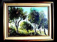 Birken im Sommer - Öl auf Leinwand 40 x 30 cm Original Ingrid Wolff-Bleekmann - Münster