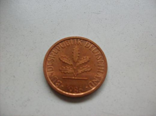 1 Pfennig 1986 J stempelglanz - Münster