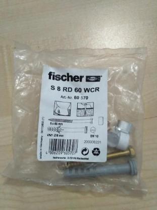 Fischer Sanitär-Befestigung S 8 RD 60 WCR, 60570